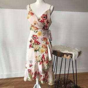 Yumi Kim floral wrap dress size L